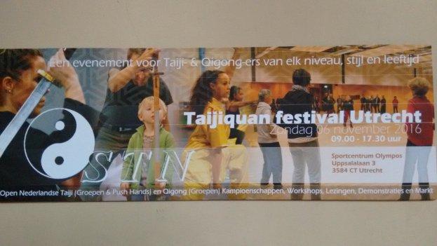 Evenement: STN T'ai Chi festival 6 november 2016